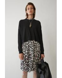 Acne Studios - Loose Fit Sweater black - Lyst