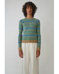 Acne Studios - Jacquard Sweater sand Beige - Lyst