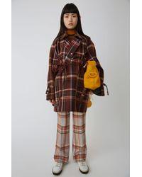 Acne Studios - Mackintosh Coat brown/burgundy - Lyst
