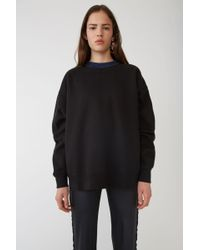 Acne Studios - Yana Black Voluminous Sweatshirt - Lyst