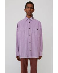 Acne Studios - Corduroy Shirt lilac Purple - Lyst