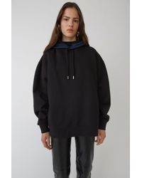 Acne Studios - Yala Black Hooded Sweatshirt - Lyst
