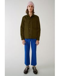 Acne Studios - Media Twill Hunter Green Utility Jacket - Lyst