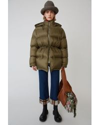 Acne Studios - Down Filled Coat olive Green - Lyst