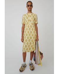 Acne Studios - Printed Dress beige/brown - Lyst