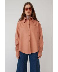 Acne Studios - Flannel Shirt dusty Pink - Lyst