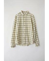 Acne Studios - Isherwood Co Li White/green Classic Fit Shirt - Lyst