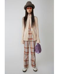 Acne Studios - Fn-wn-trou000047 Pink/cream Madras Trousers - Lyst