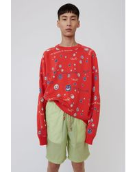 Acne Studios - Patterned Jumper ruby Red - Lyst