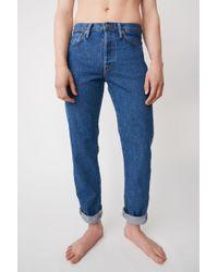 Acne Studios - Straight Fit Jeans dark Blue - Lyst