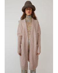 Acne Studios - Raya Mohair Powder Pink Kimono Sleeve Cardigan - Lyst