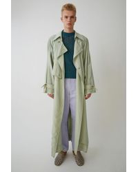 Acne Studios - Traditional Trench Coat mint Green - Lyst