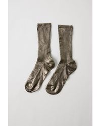 Acne Studios - Fn-wn-accs000020 Anthracite Grey Ribbed Socks - Lyst