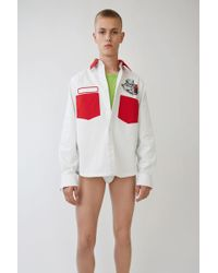 Acne Studios - Seattle white/red - Lyst