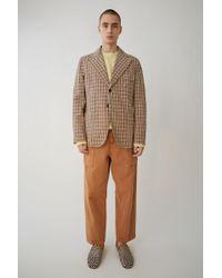 Acne Studios - Visbe Gw Bold Ch rust Orange Check - Lyst