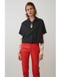 Acne Studios - Boxy Poplin Shirt black - Lyst