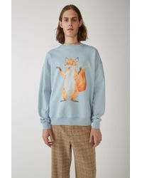 Acne Studios - Fox Print Sweatshirt pale Blue - Lyst