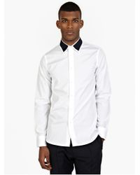 Marni Men'S White Contrast Cotton Shirt - Lyst