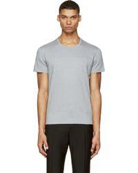 Calvin Klein Grey Mesh T_Shirt - Lyst