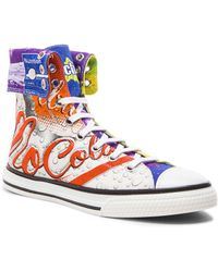 Moschino Men'S Mocola Print Canvas High Tops - Lyst