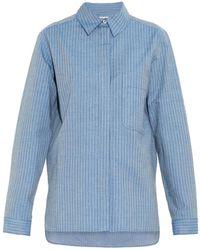See By Chloé Lurex-Stripe Cotton-Blend Shirt - Lyst