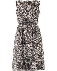 Max Mara Studio Gray Blocco Dress - Lyst