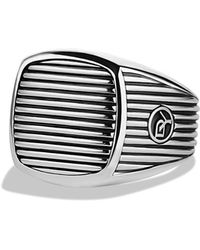 David Yurman Royal Cord Signet Ring - Lyst