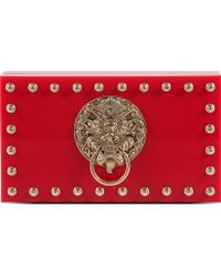 Charlotte Olympia Lion Pandora Box Clutch Chinese Red - Lyst