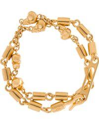 Alexander McQueen Gold Rifle Chain Bracelet - Lyst