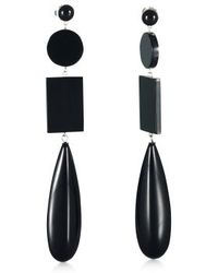 Ralph Lauren Onyxresin Drop Earrings - Lyst
