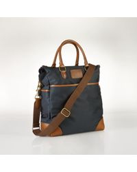 Polo Ralph Lauren Blue Nylon Tote - Lyst
