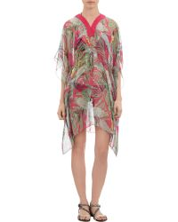Saloni Tropical-Print Cover-Up pink - Lyst