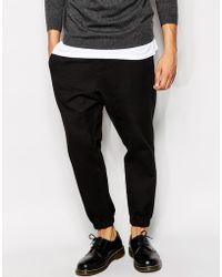 Asos Skinny Joggers In Waffle Fabric - Lyst