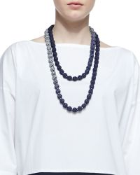 Eileen Fisher | Mini Striped Beaded Necklace | Lyst