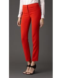 Burberry Slim Fit Faille Trousers - Lyst