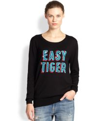 Markus Lupfer Natalie Easy Tiger Sequined Cotton Sweater - Lyst