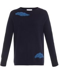 OSMAN Beaded-Clouds Cashmere Sweater - Lyst