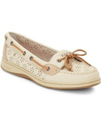 Sperry Angelfish Perforated Leather Boat Shoes - Lyst