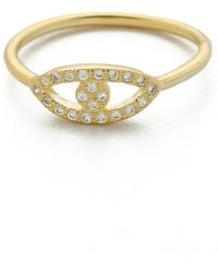 Shashi Evil Eye Ring - Gold - Lyst