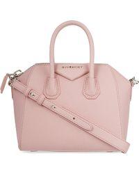 Givenchy P66 Mini Antigona Bag Pink - Lyst