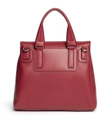 Givenchy 'Pandora Pure' Small Leather Flap Bag red - Lyst