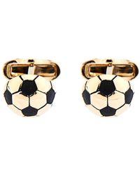 Paul Smith Gold Football Cufflinks - Lyst