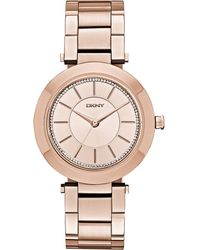 DKNY Women'S Stanhope Rose Gold-Tone Stainless Steel Bracelet Watch 36Mm Ny2287 - Lyst