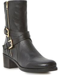Dune Rachelle Leather Biker Boots - Lyst
