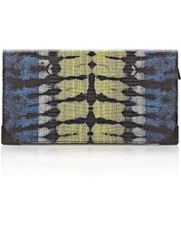 Alexander Wang Prisma Skeletal Long Compact In Tie Dye Plasma And Acid With Matte Black - Lyst
