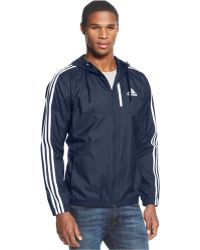 Adidas Full-Zip Essential Woven Jacket blue - Lyst