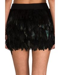 Blaque Label Feather Party Skirt in Teal - Lyst
