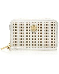 Tory Burch Robinson Perforated Smartphone Wristlet - Lyst