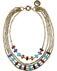 Giles & Brother Multi-strand Gold-tone Beaded Necklace - Lyst