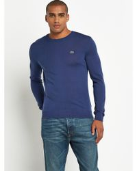 Lacoste Mens Crew Neck Jumper - Lyst